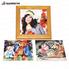 Yiwu factory supply wooden frame for sublimation tiles