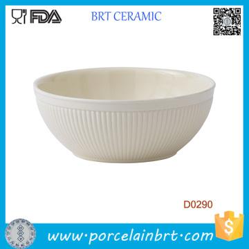 Bol à salade en céramique blanche de style italien