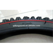 26x2.125 bicycle tire with red line