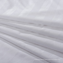 Weißes Satin-Streifen-Gewebe für Bettwäsche (WSF-2016006)