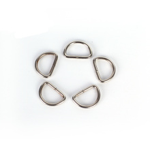 Guangdong wholesale custom bag accessories stainless steel bag hardware d ring metal d buckle