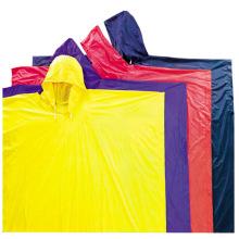 Yj-6058 Poncho en caoutchouc jaune réutilisable pour vêtements de pluie pour le travail