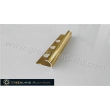 10mm Bright Gold Aluminum Radius Floor Trim