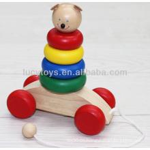 Holzpuppe Regenbogen Stapler pädagogischen Spielzeug Verteiler