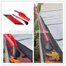 herramienta de limpieza de canal fácil de alcanzar, agarrador de hojas de jardín con 5 manijas de sección