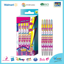 Barbie 5 Piece twist crayon set
