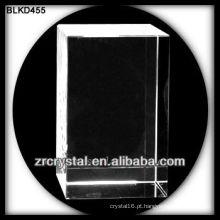 Cubo de cristal em branco para gravação a laser 3d BLKD455