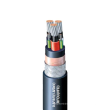 Flat VFD Tinned Copper Wire Braided Medium Voltage Motor Power Supply Cables