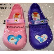 Mais recente dos desenhos animados sapatos de jardim eva chinelos de moda para crianças (fbj521-17)