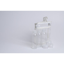 60ml Pet Bottle W/ Flip Top Cap and Jars Travel Kit (EF-TK01)