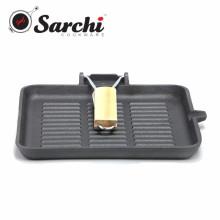 Cast Iron Square reversible griddle pan