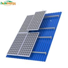 Soportes de montaje solar de techo solar para sistema de montaje en panel solar de techo de hojalata Soportes de montaje solar