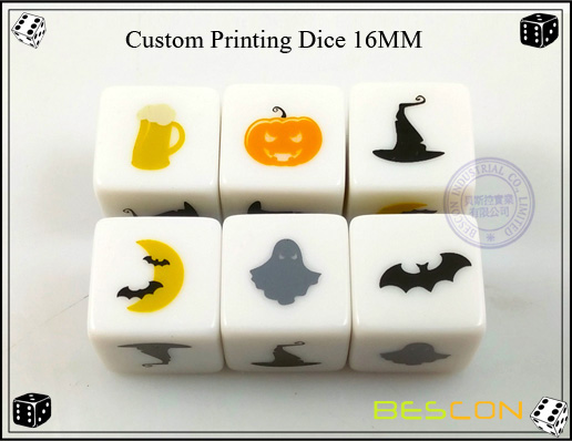 Custom Printing Dice 16MM
