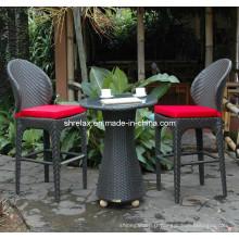 Ensemble de patio jardin rotin meubles en osier Bar chaise tabouret