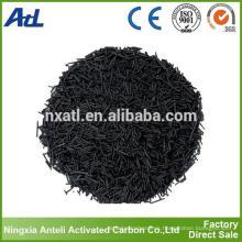 Carbono activado cilíndrico a base de madera para la eliminación de benceno