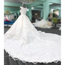 Neue Design Weiß Perlen Brautkleider vestidos novias 2018 Ballkleid Brautkleid