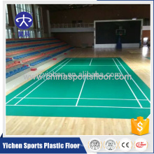 PVC sports badminton cour plancher démontable type badminton court prix
