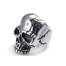Anéis de aço inoxidável crânio para homens
