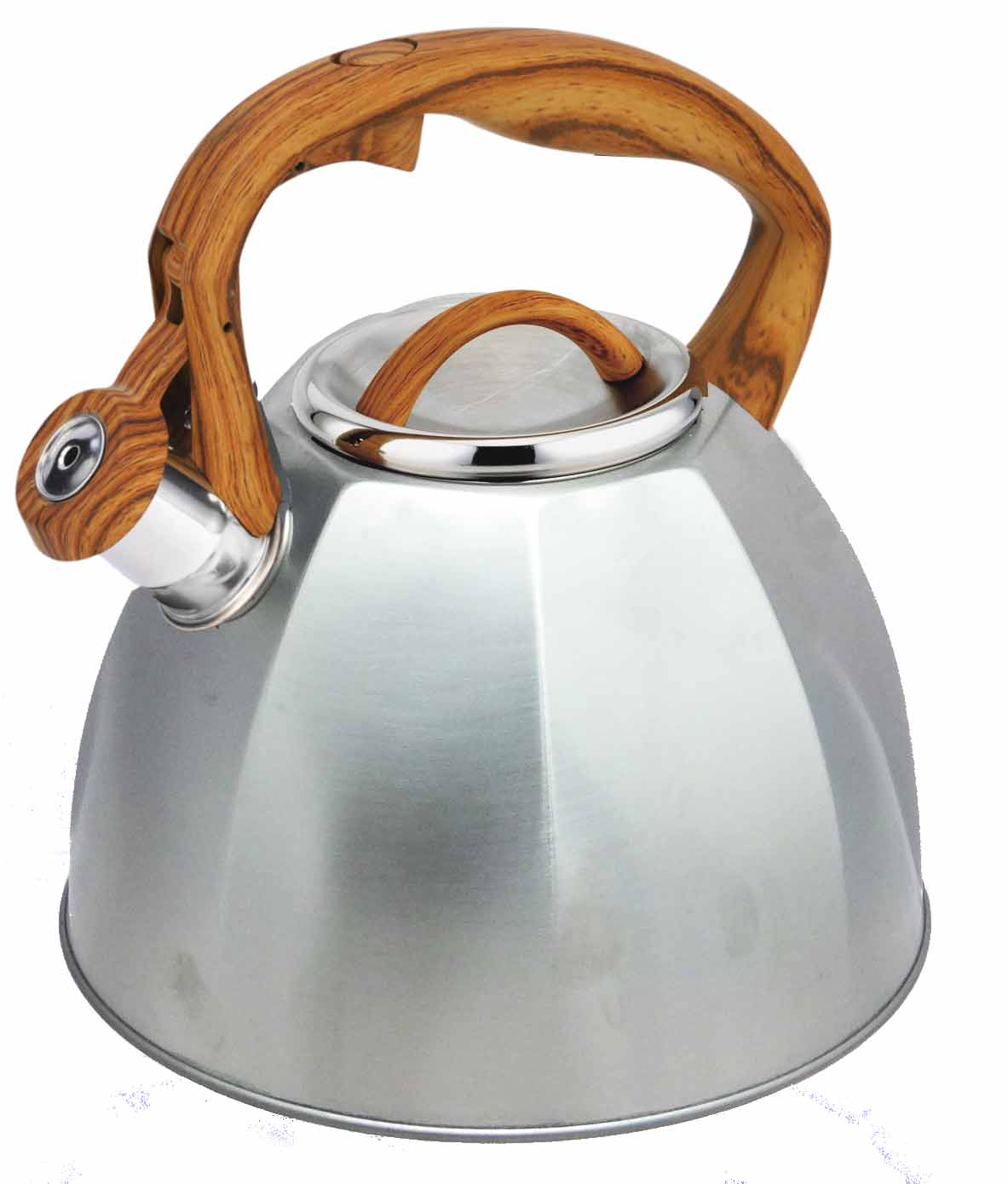 Wooden rubber coating whistling kettle