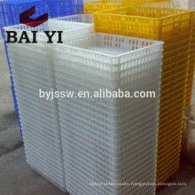 Plastic poultry transport crate for chicken farm