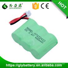 3.6 Volt Ni-MH 600mAh 2/3AA Battery Pack For Cordless Phone