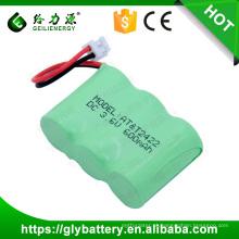 3.6 Bateria Ni-MH 600mAh 2 / 3AA Bateria Para Telefone Sem Fio