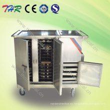 Carretilla eléctrica del alimento del control del acero inoxidable (THR-FC001)