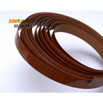 Wood Grain PVC Edge Banding voor Furniture Board