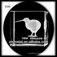K9 3D Laser Kiwi Bird dentro de rectángulo de cristal