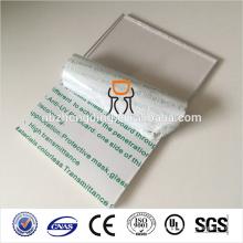 100% de matériau transparent en polycarbonate feuille givrée avec blocage uv