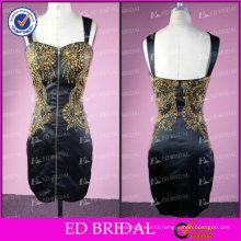Real Sample Sheath Sleeveless Beaded Short Designer Dress