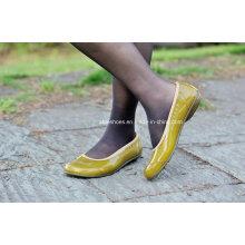 Работы ПВХ Плоский каблук ботинки для женщин, Женская обувь