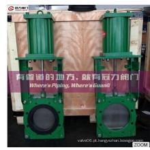 Operação manual das válvulas de gaveta bidirecionais