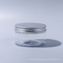 50ml Pet Jar Plastic Wide Mouth Jar for Candy for Food for Ice Cream for Cosmetic Food Grade with Aluminum Caps
