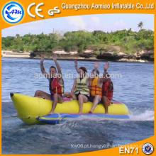 Único inflável tubo banana barco mosca peixe, alta qualidade china barco inflável