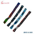 Polyester Wristband with Plastic Clip