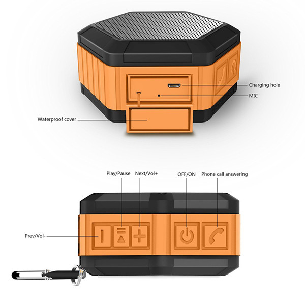 Great Bass Best Waterproof Bluetooth Outdoor Speaker