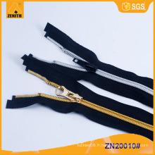 5 # Nylon Argent Dents Dorées Nylon Zipper ZN20010