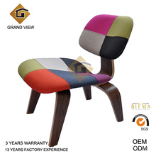 Meubles classiques moulé chaise noyer foncé en contre-plaqué (GV-LCW 007)