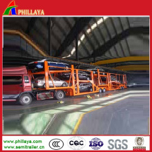 Skeletal Hydraulic Auto Transport Truck Semi Car Hauler Trailer