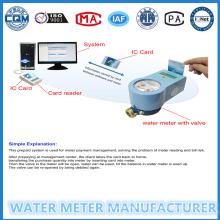 Sistema sem contato Gerenciador de freqüência de rádio pré-pago medidor de água 15mm-25mm