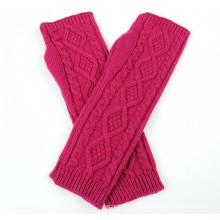 Senhora moda acrílico malha inverno braço aquecedor (yky5448)