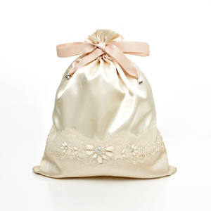 competitive price thick satin lace bag