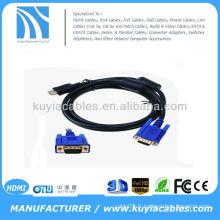 Câble HDMI HDMI vers VGA Câble mâle HDMI vers HDMI VGA HD-15 de 5FT