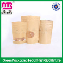 FDA standard food brown packaging paper bag for dries food