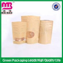 O saco de papel de empacotamento marrom do alimento padrão de FDA para seca o alimento