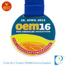 Versorgungsmaterial-Qualitäts-Zink-Legierung nachgemachte Emaille-Marathon-Medaille mit Druckguss