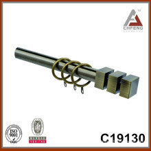 C19130 mordern fancy metal curtain rod finials,double single curtain rod set