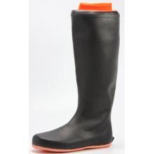 Men's  Transplanting Rubber Rain Boots With Orange Sole