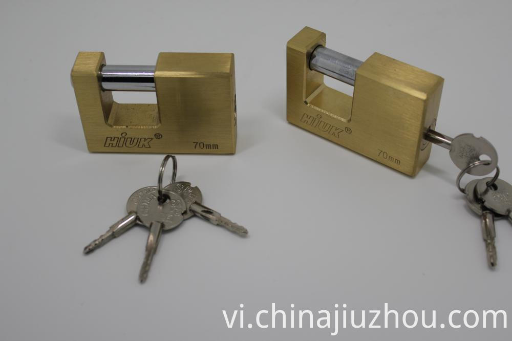Brass Rectangle Padlock